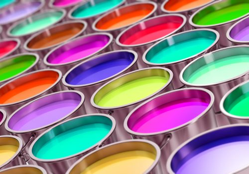 Colorful Paint can background - 3D Rendering